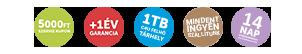 +1 év garancia, +1 Terra C4U felhő tárhely, ingyenes szállítás!